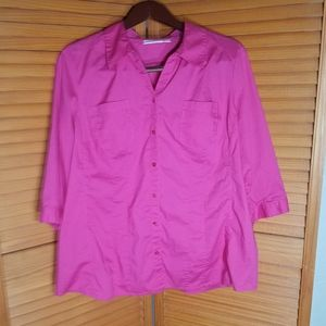 St. John's Bay Pink Button Down Blouse
